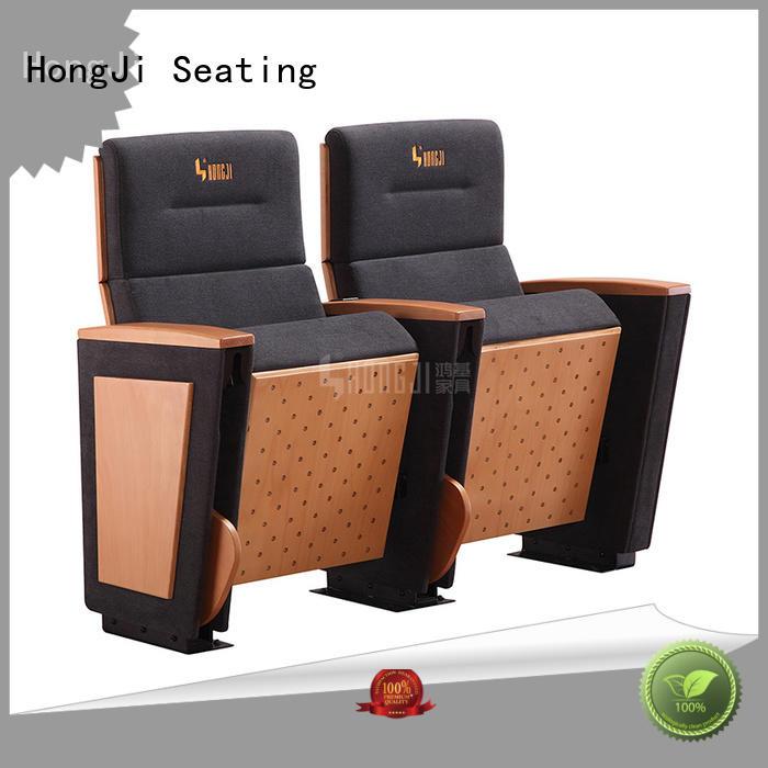 HONGJI 3 seat theater seating manufacturer for university classroom
