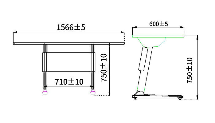 HONGJI movable office table exporter for classroom-1