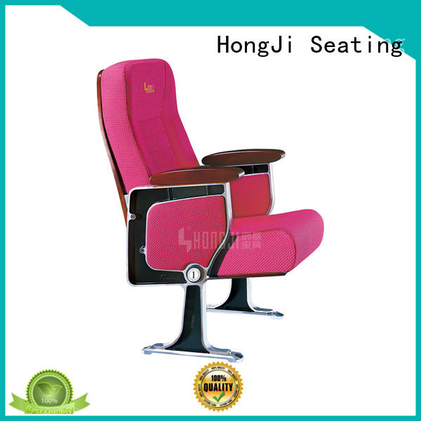 HONGJI elegant stadium theater seating furniture manufacturer for cinema
