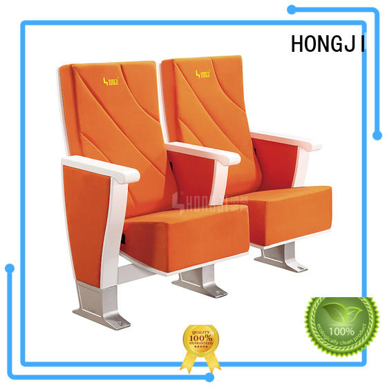 fabric stackable auditorium seating with office HONGJI