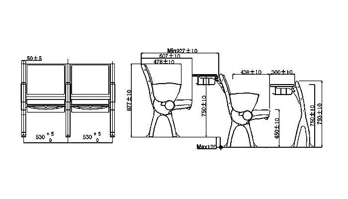 HONGJI ISO14001 certified classroom furniture manufacturer for university-1