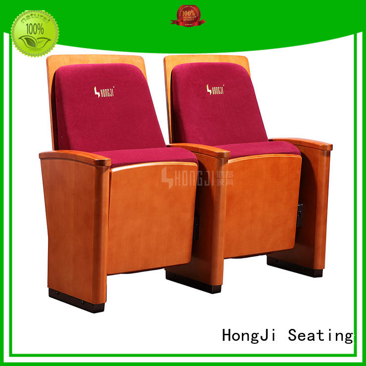 HONGJI newly style soft leather theater chairs factory for sale
