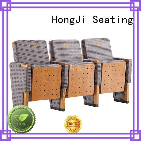 HONGJI black leather theater seats supplier for student