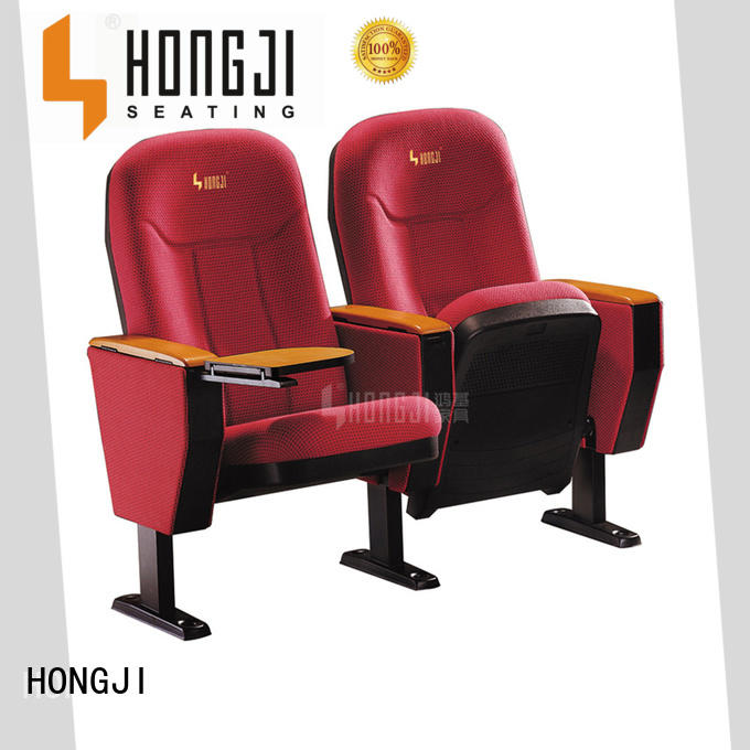 HONGJI high-end leather theater seats manufacturer for university classroom