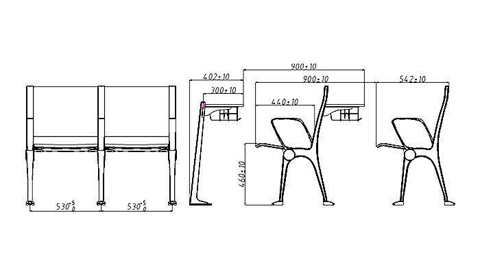ergonomic study desk and chair tc001 factory for university-1