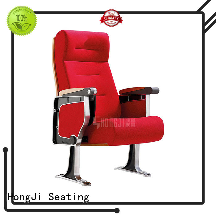 HONGJI project fixed auditorium seating with table for office furniture
