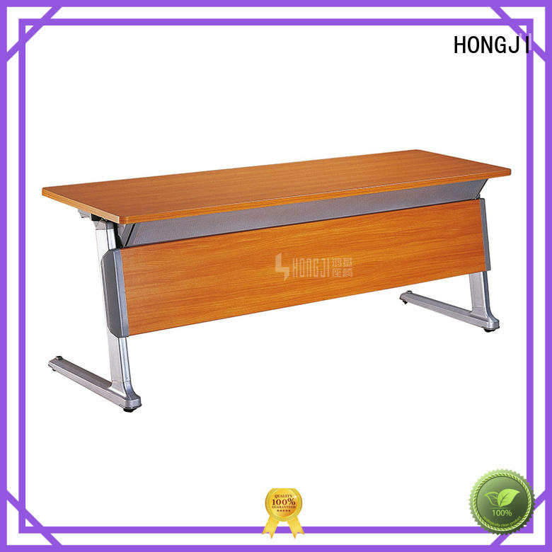 HONGJI Brand hd04a1 sectional large wooden office desk manufacture