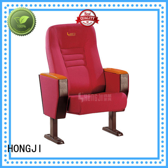 lecture theatre chairs parts hj96a alloy HONGJI Brand auditorium chairs