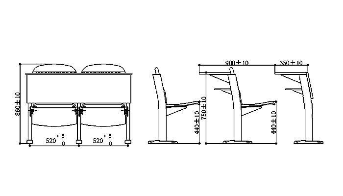 HONGJI tc901a classroom furniture manufacturer for high school-1