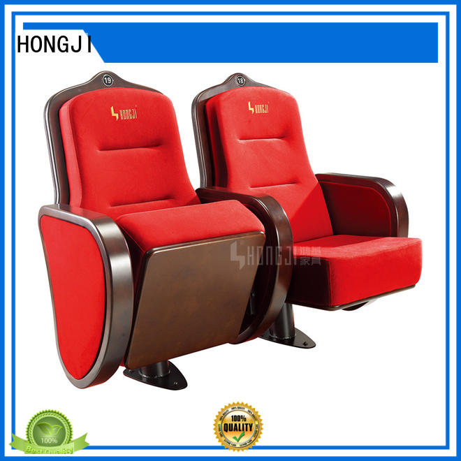 HONGJI folding audience seating chairs writing for