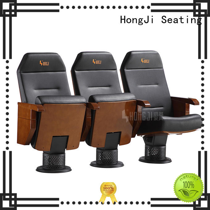 HONGJI high-end black theater chairs factory for student