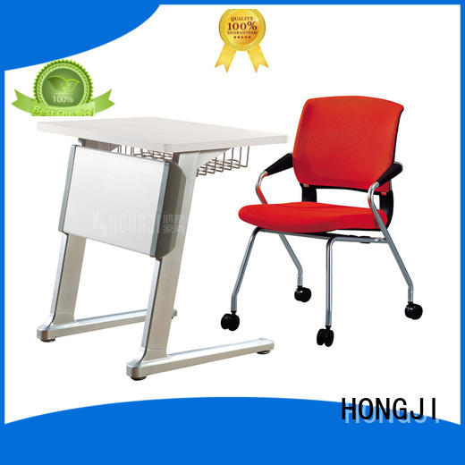 HONGJI movable white office desk factory for school