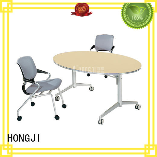 HONGJI movable office table and chairs from China for classroom