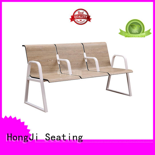 HONGJI h63d3 reception room chairs public seating solution for bank