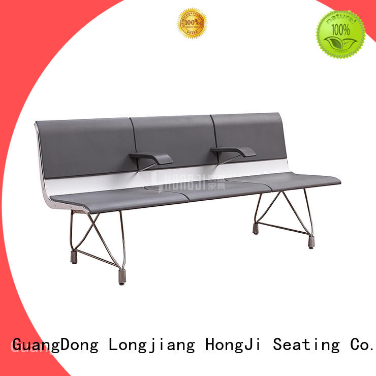HONGJI durable in use waiting area chairs public seating solution for airport