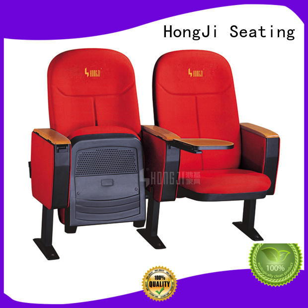 HONGJI newly style cinema hall chairs factory for sale