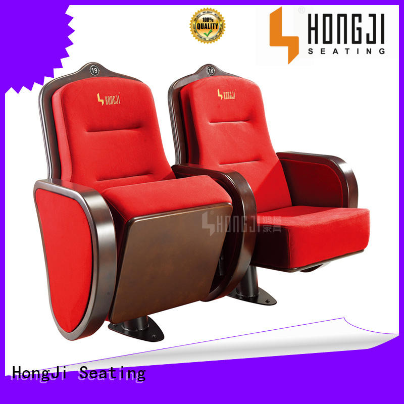 lecture theatre chairs fabric foldable HONGJI Brand company