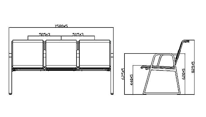 HONGJI h72c4ft modern waiting room chairs design-1