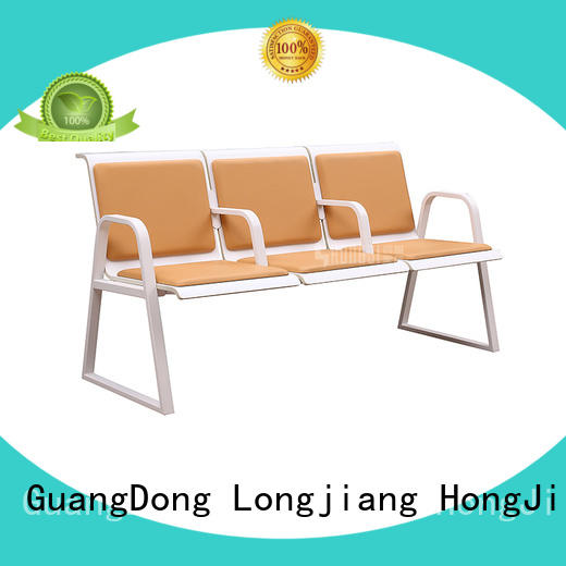 HONGJI durable in use reception area chairs public seating solution for airport