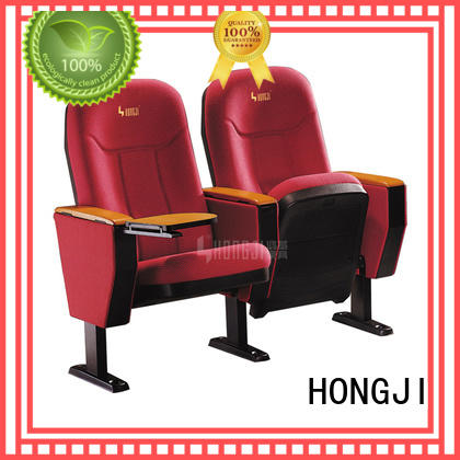 black leather theater seating hj818a classroom HONGJI