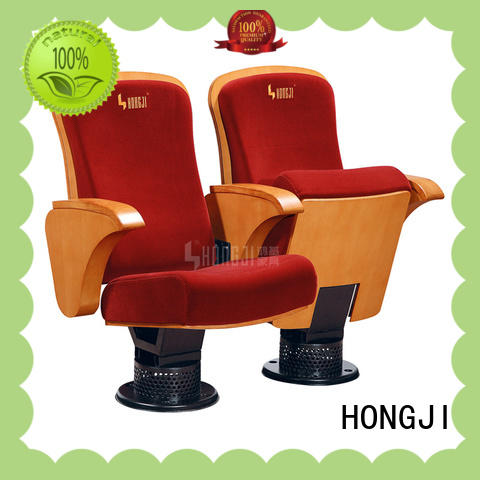 HONGJI black leather theater chairs manufacturer for student