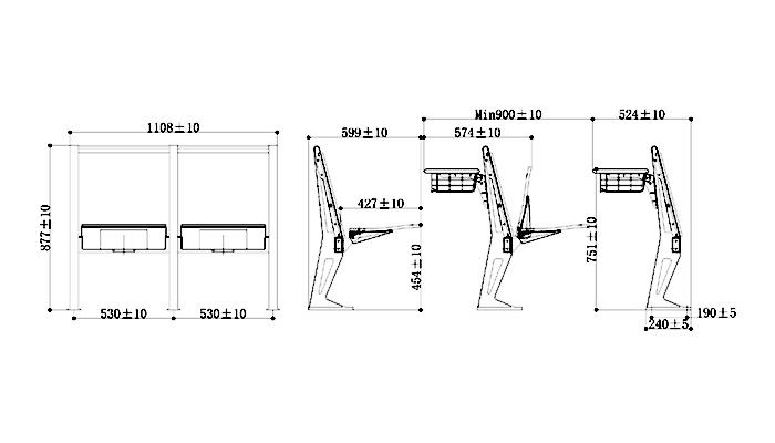 ISO14001 certified school table and chair set tc0031 manufacturer for university-1