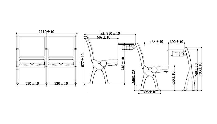 HONGJI ergonomic elementary school chairs factory for high school-1