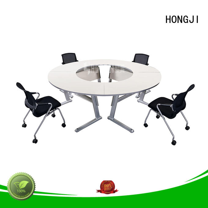 HONGJI movable white office desk exporter for classroom
