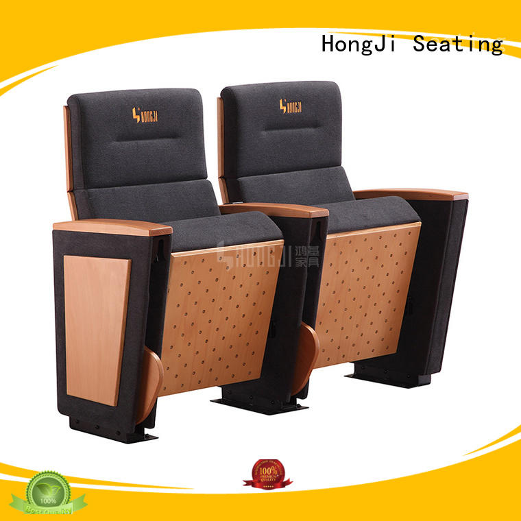 HONGJI real leather theater seating manufacturer for student