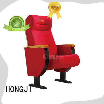 high-end red leather theater seats factory for office furniture HONGJI