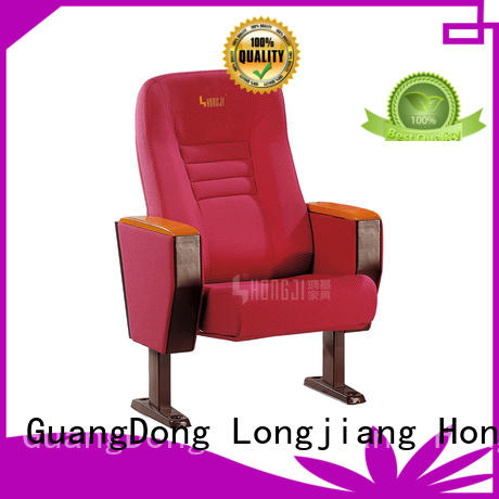 HONGJI newly style 2 seat theater chairs manufacturer for cinema