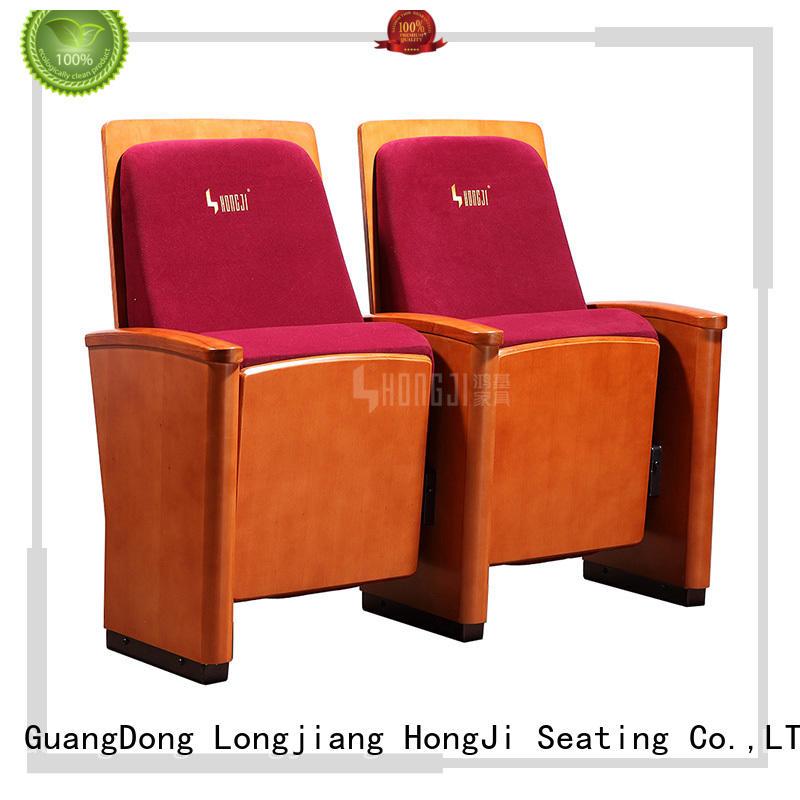 HONGJI outstanding durability auditorium seat manufacturer for sale
