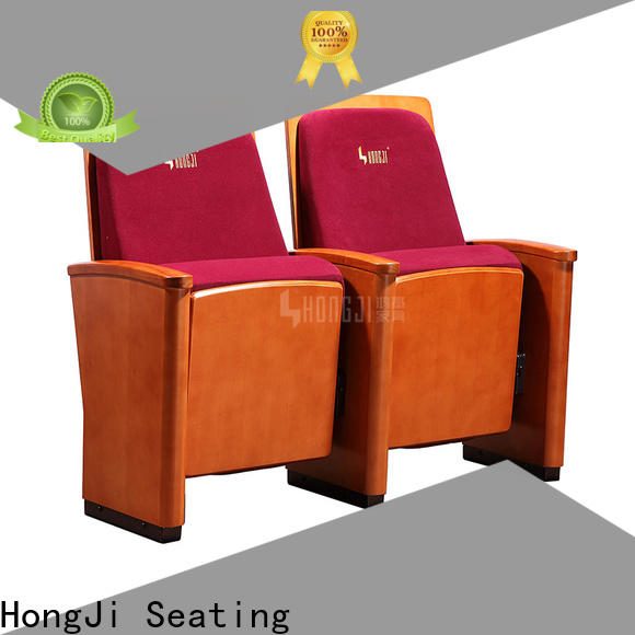 HONGJI elegant double theater chairs manufacturer for cinema