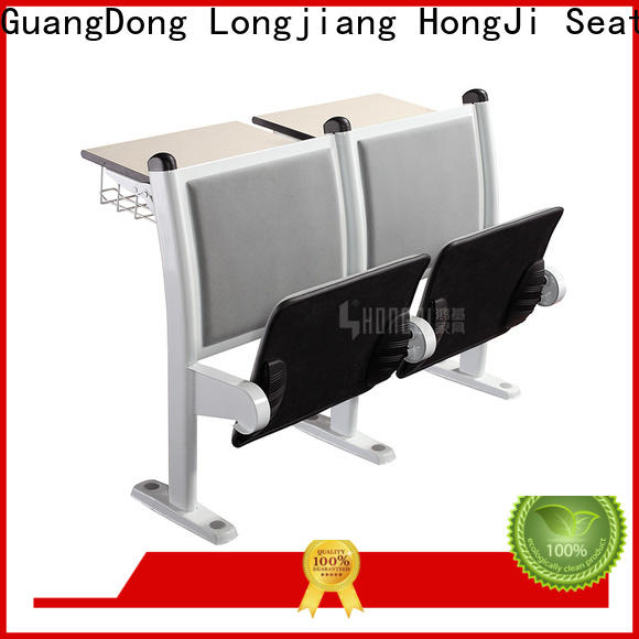 HONGJI ISO9001 certified classroom chair with desk manufacturer for university
