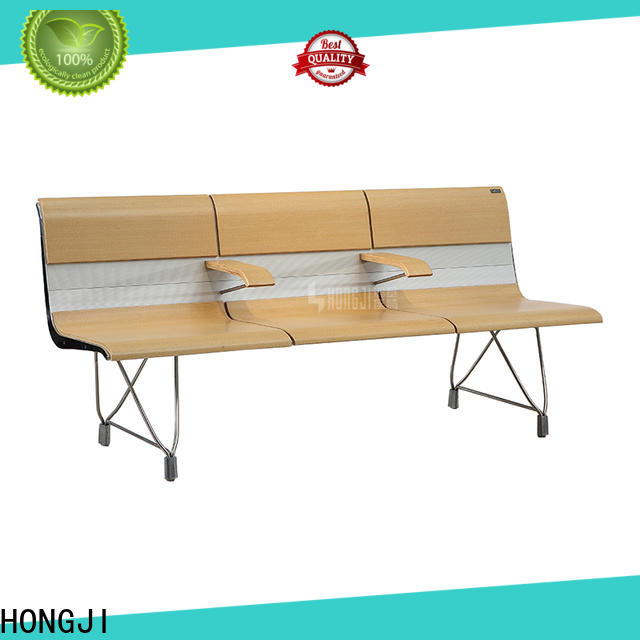 HONGJI h63b4t waiting room bench seating public seating solution for bank