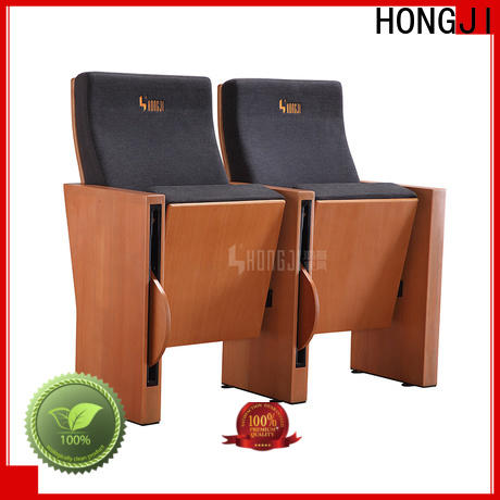 HONGJI outstanding durability red theater seating manufacturer for university classroom