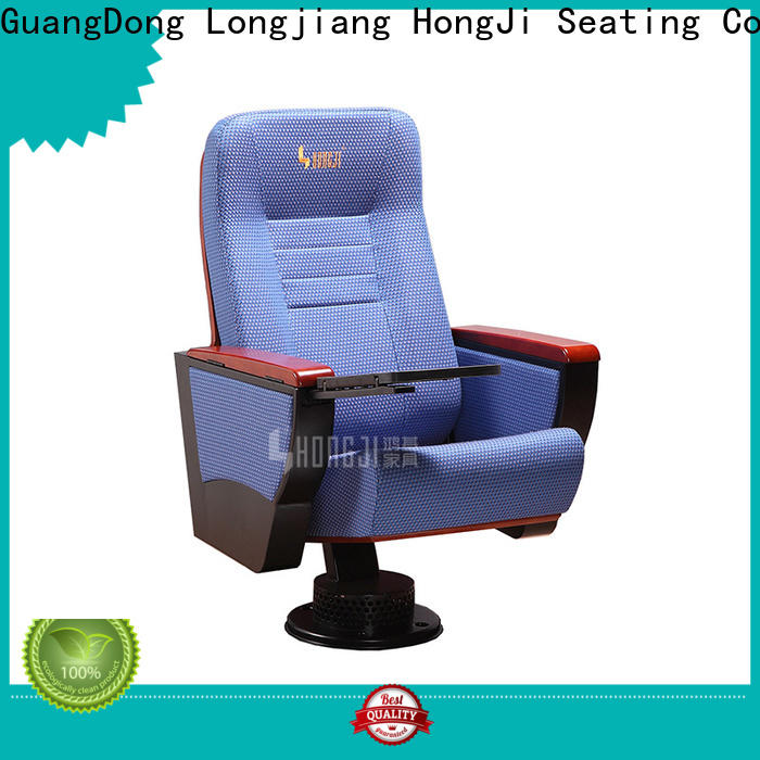 HONGJI outstanding durability red leather theater seats supplier for office furniture