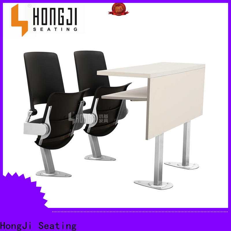 HONGJI tc905a wooden school desk manufacturer for university