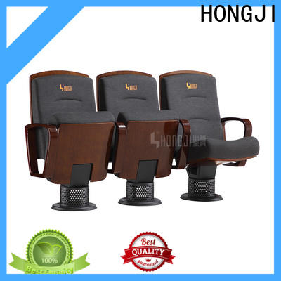 HONGJI unparalleled red leather theater seats factory for university classroom