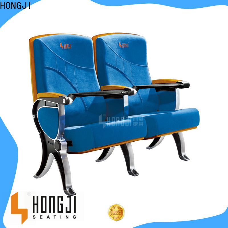 HONGJI elegant black leather theater chairs factory for office furniture