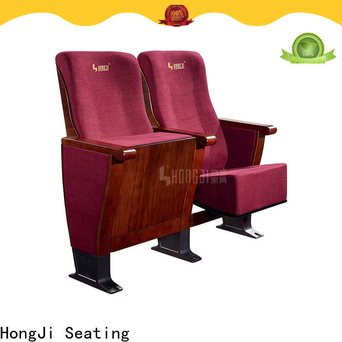 HONGJI newly style real leather theater seating factory for cinema