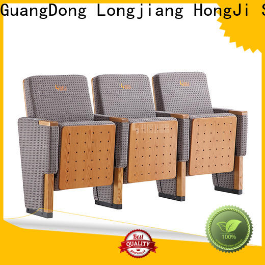 HONGJI unparalleled real leather theater seating manufacturer for university classroom