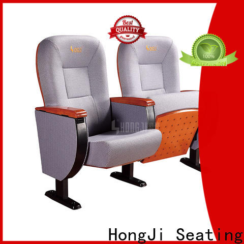 HONGJI soft leather theater chairs supplier for university classroom