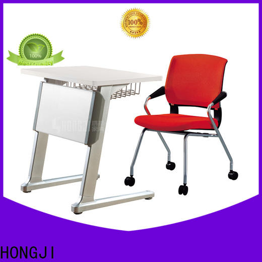 HONGJI movable office desk furniture from China for school