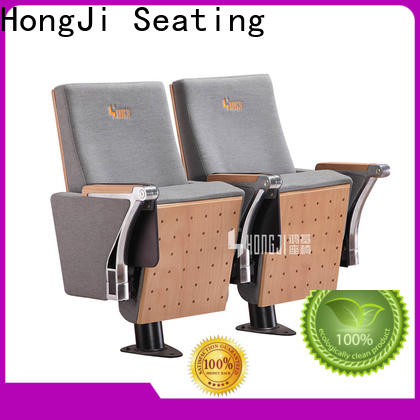 HONGJI elegant red leather theater seats supplier for office furniture
