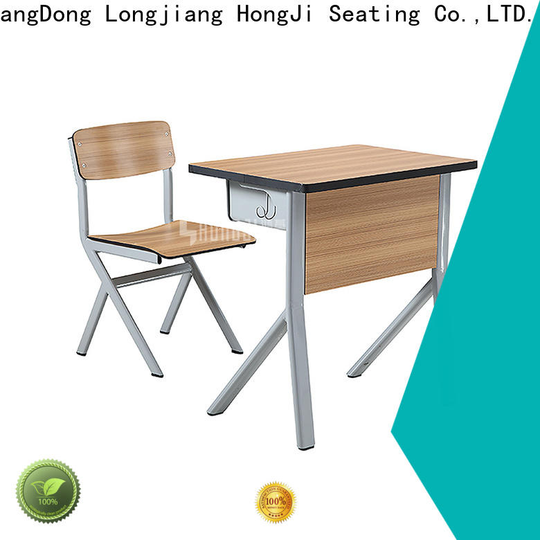 HONGJI ISO9001 certified study desk and chair for school