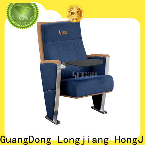 HONGJI newly style real theater seats factory for cinema
