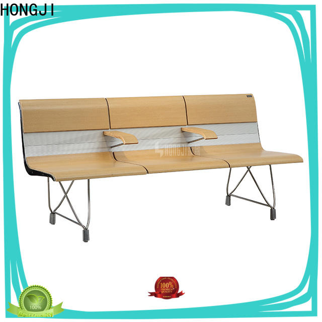 HONGJI durable in use stainless steel waiting chair public seating solution