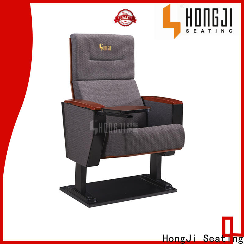 HONGJI outstanding durability 3 seat theater seating manufacturer for university classroom