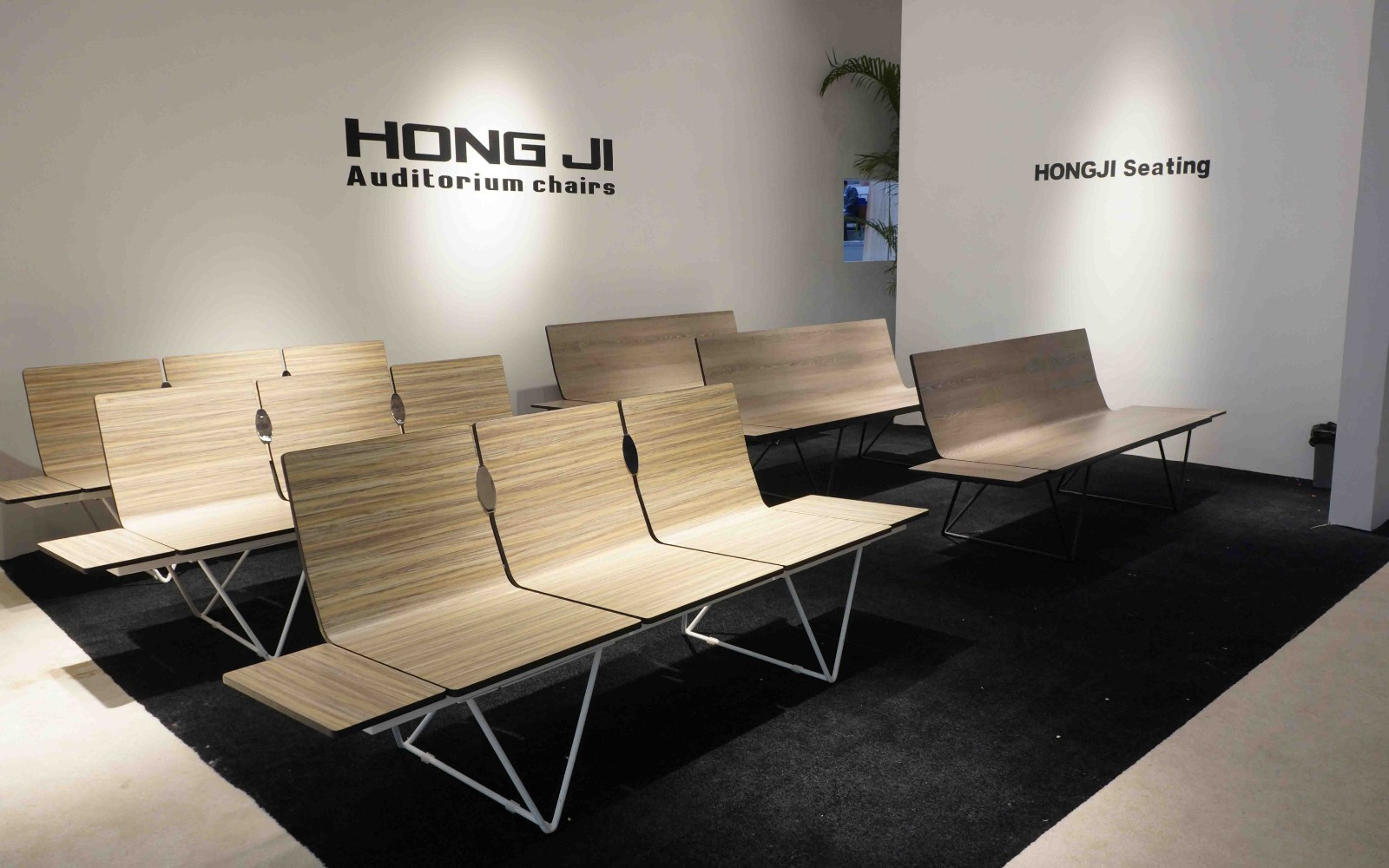 HONGJI h63b4ft reception area chairs design for airport-13